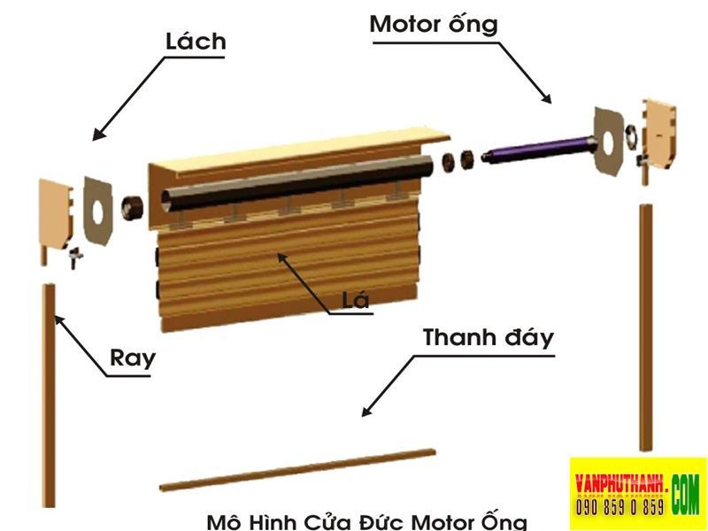 Cửa cuon dung motor ong, tubular motor