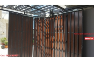 Automatic curved door 1 wing