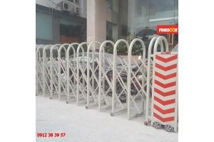 Cổng xếp sắt sơn tĩnh điện